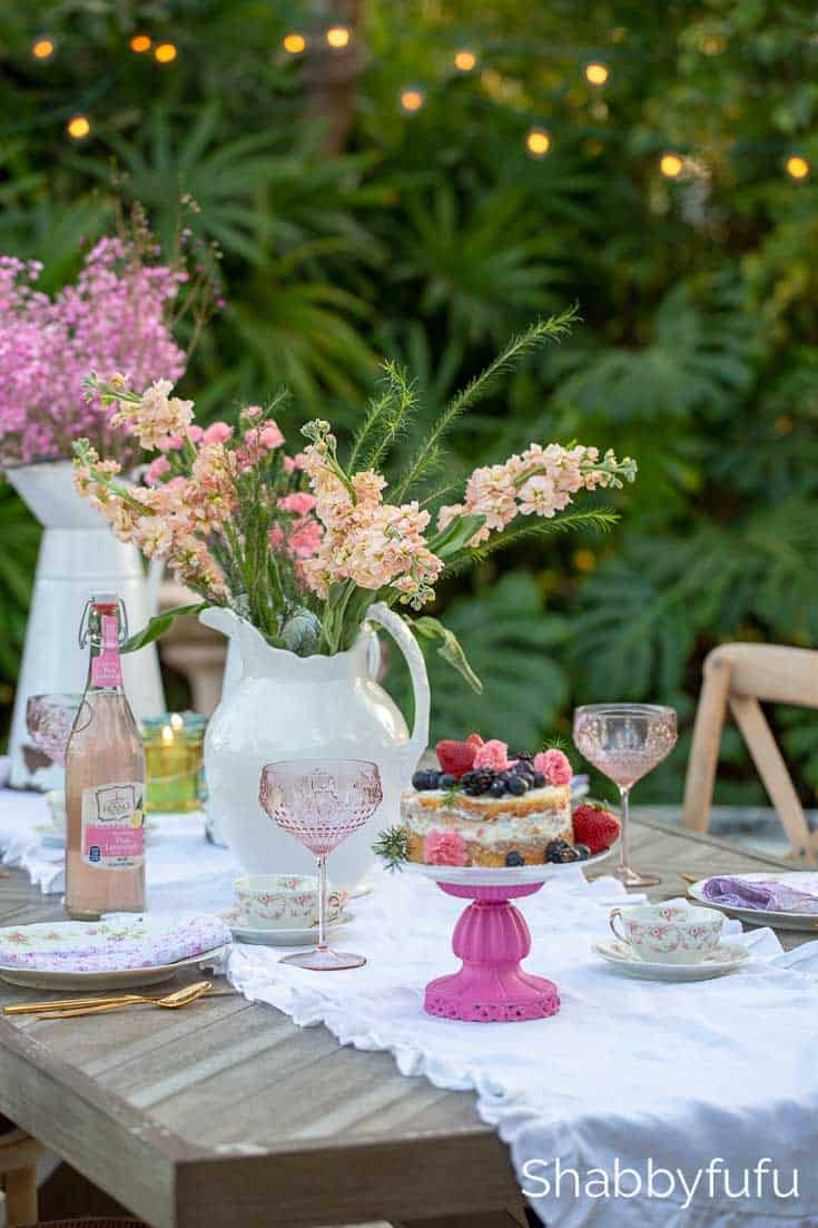 floral centerpiece french cottage style