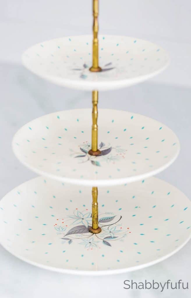 How To Make A Tiered Stand Thrift Store Plates Shabbyfufu Com