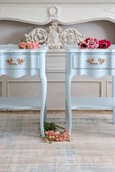 coastal blue nightstands