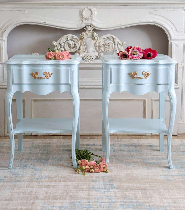coastal french country nightstands