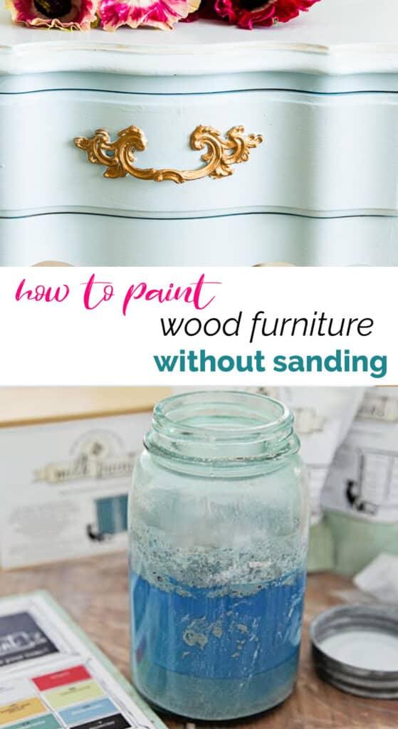 Paint Wood Furniture Without Sanding Shabbyfufu Com