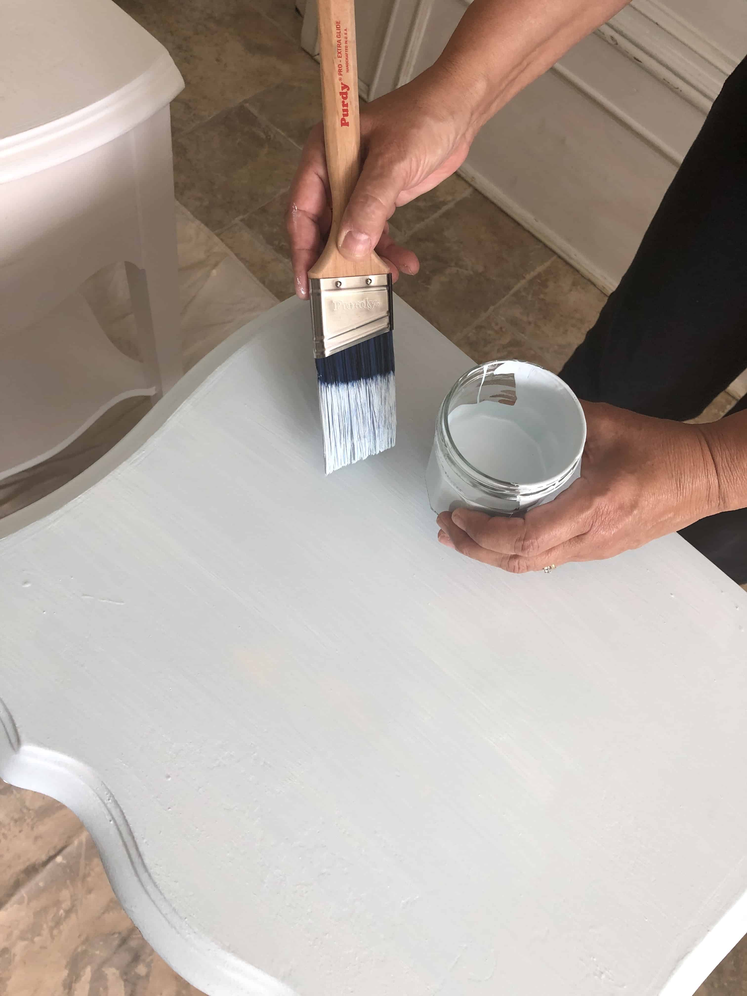 how to paint furniture without sanding blue pant