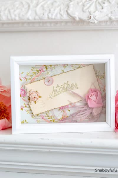 shadow box frame mothers day heirloom gift