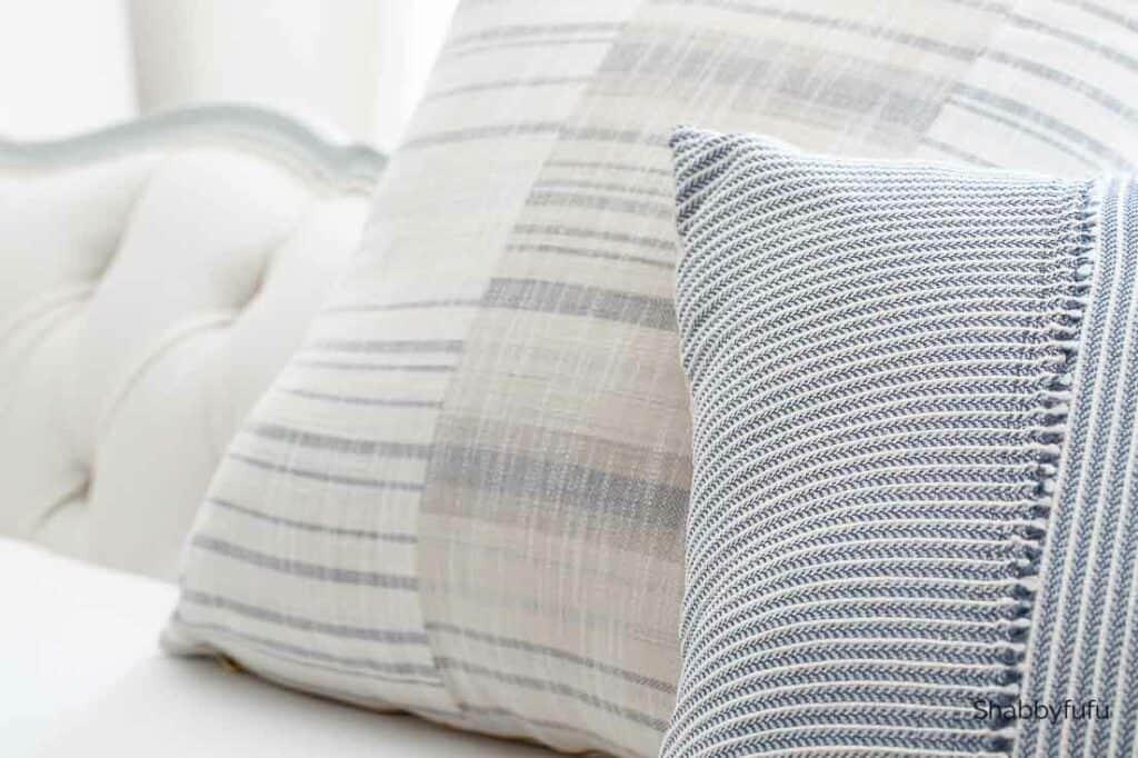 coastal decorating pillows