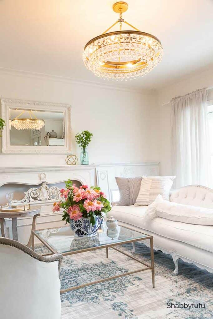 spring living room decorating coastal elegant style