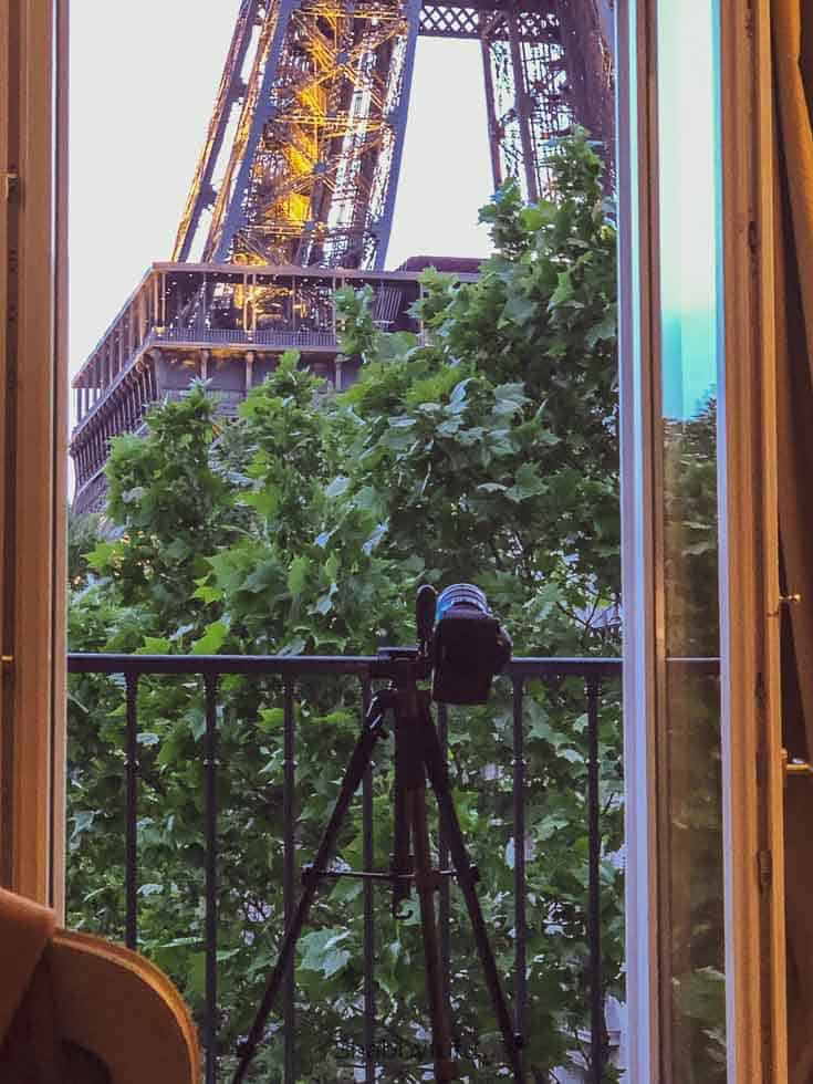 view of eiffel tower from paris apartment