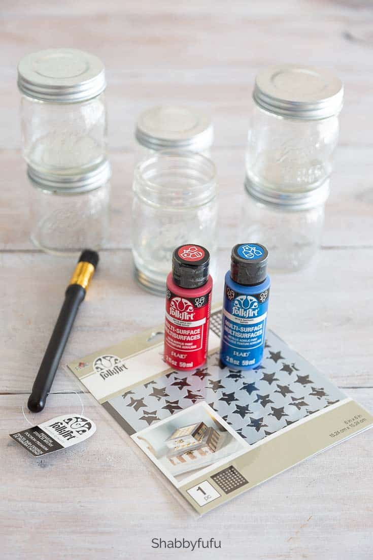 materials for stenciling ball mason jars