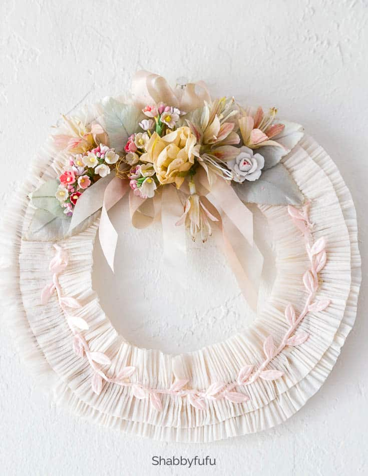 wreath making ideas for summer vintage style