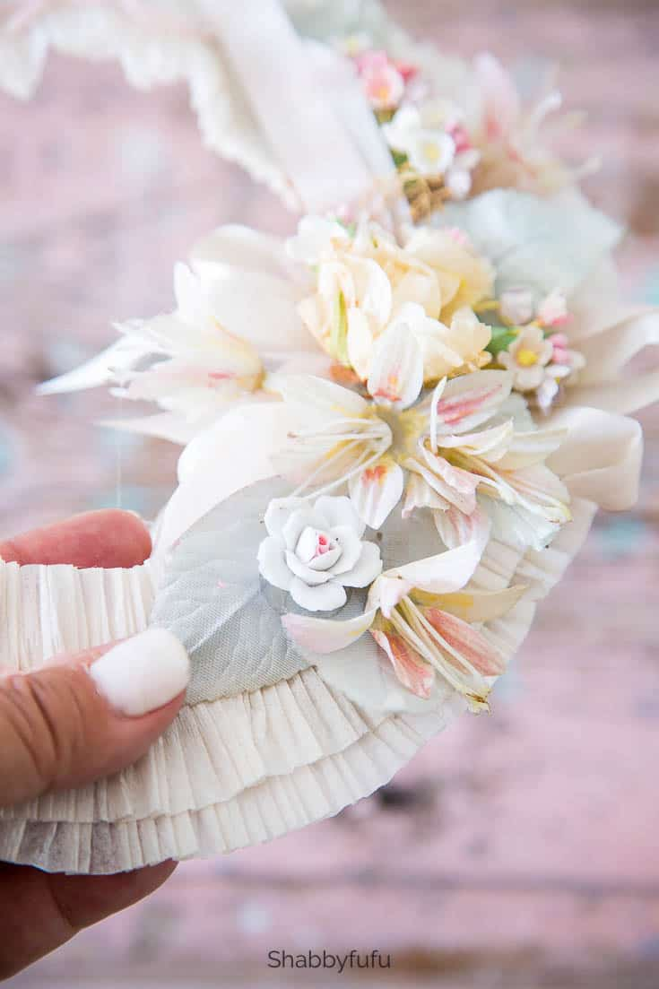 wreath making ideas with vintage millinery