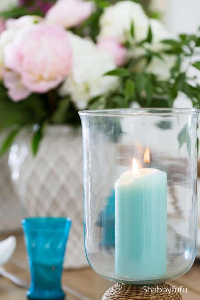 aqua candles
