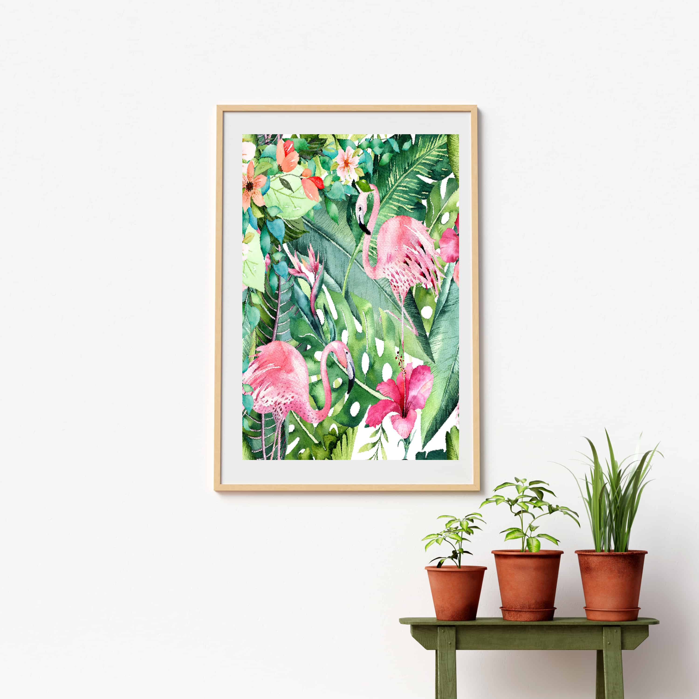flamingo tropical art shabbyfufu
