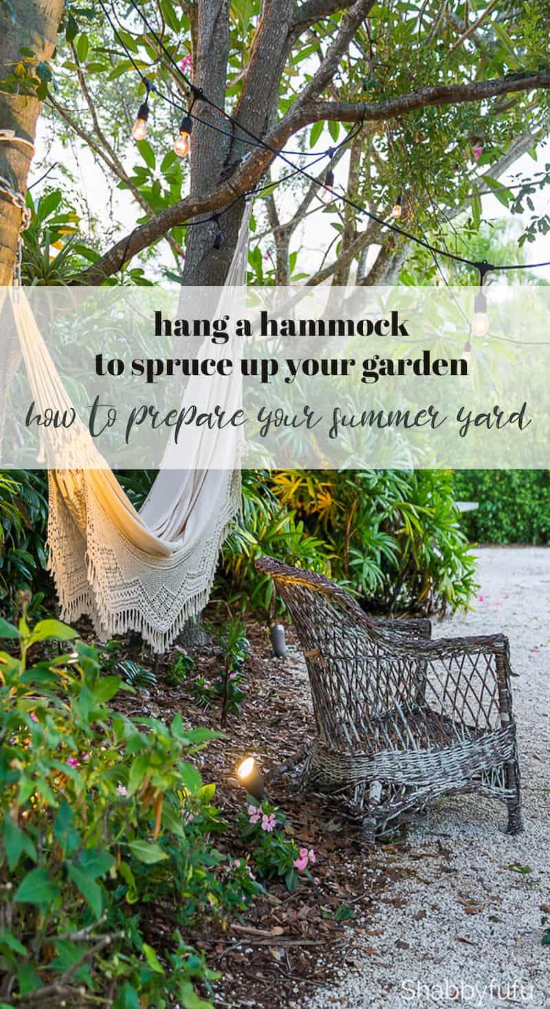 garden hammock summer diy