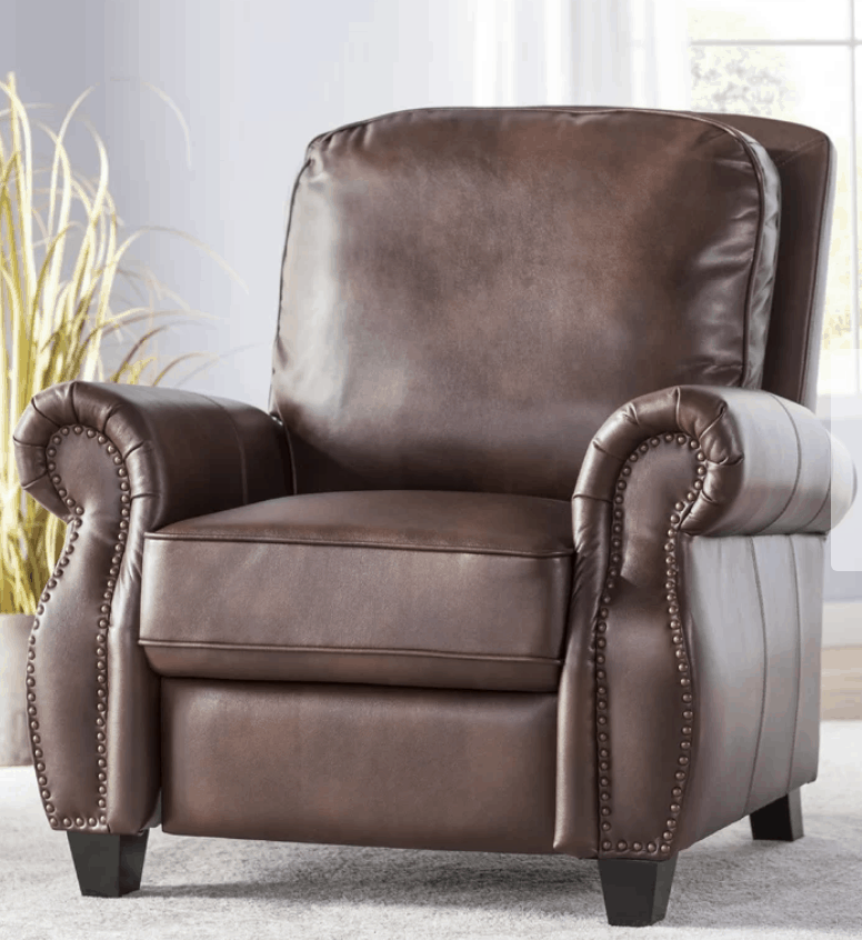 nailhead recliner man cave decor