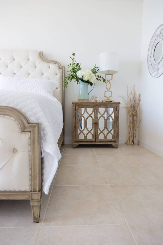 Florida coastal style French bedroom
