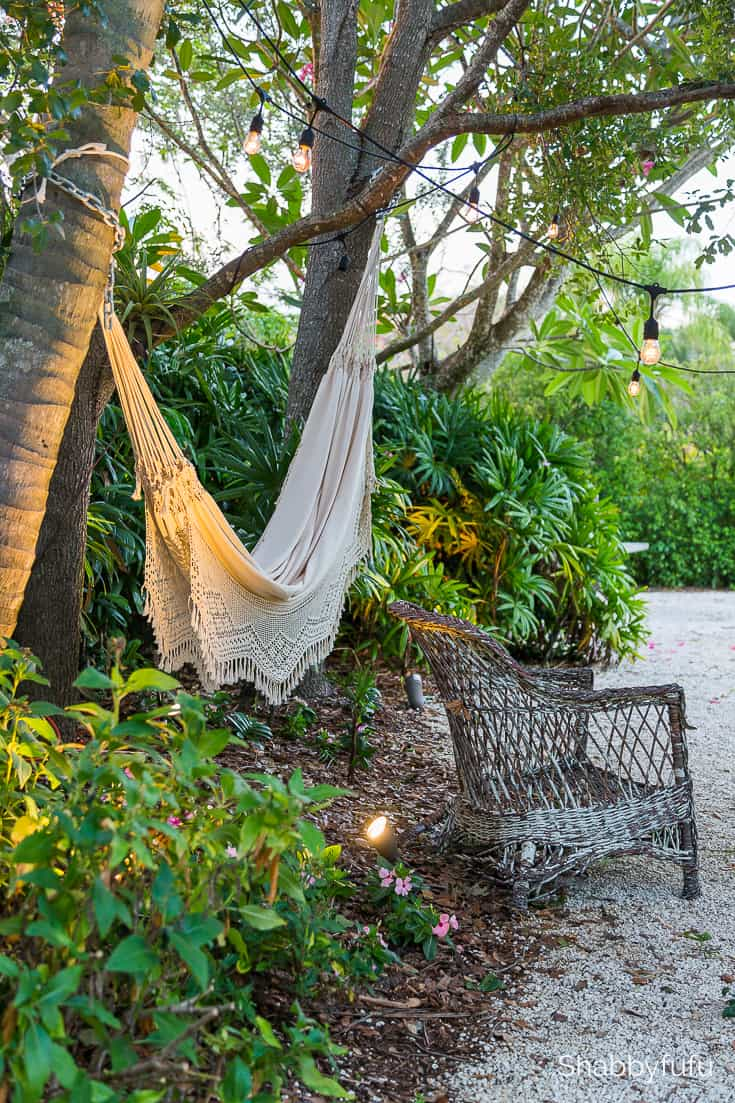 summer diy project with an outdoor hammock