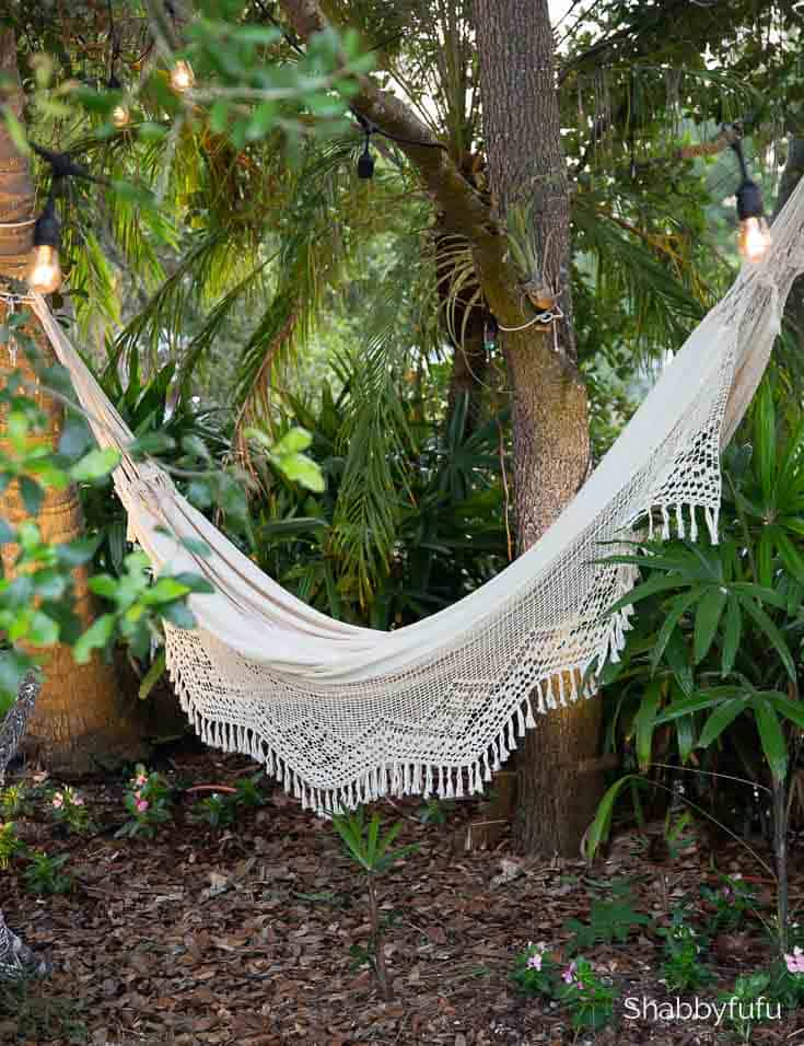 garden hammock summer diy project