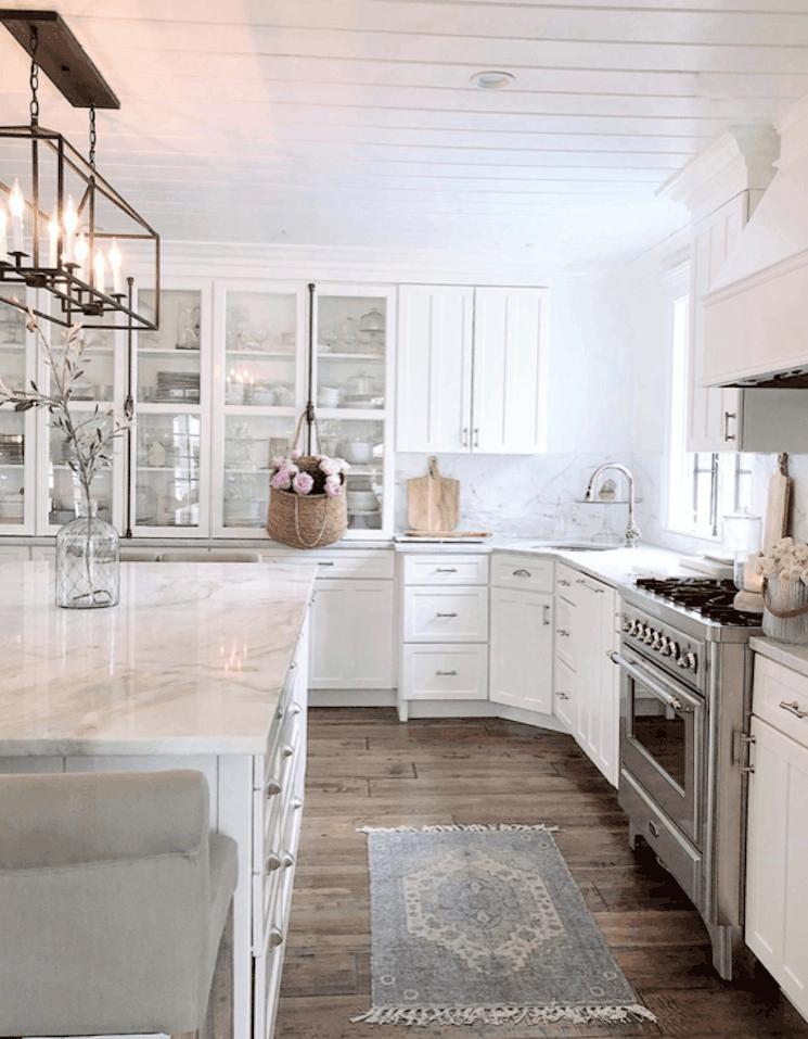 marble farmhouse kitchen