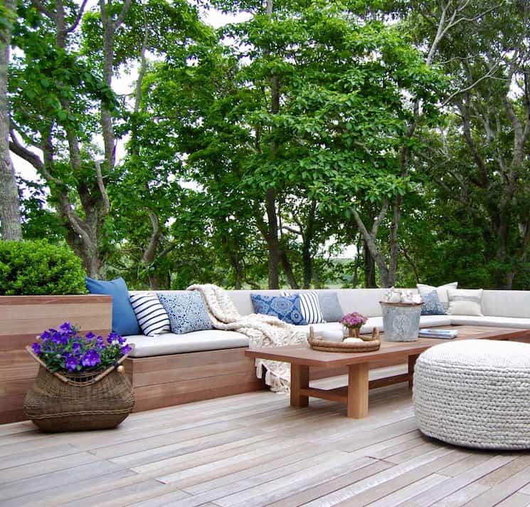 coastal home decor deck