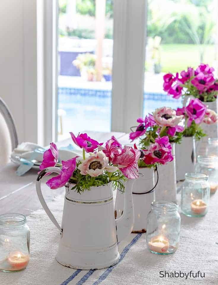 modern french country design flowers