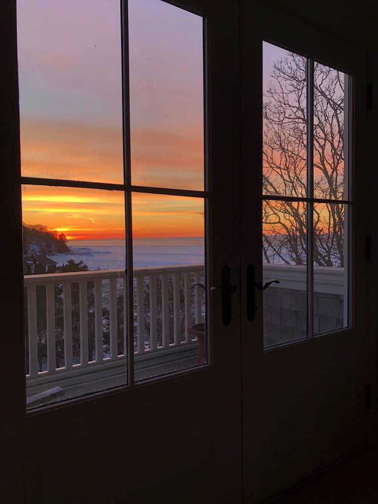 coastal home decor sunset over marsh