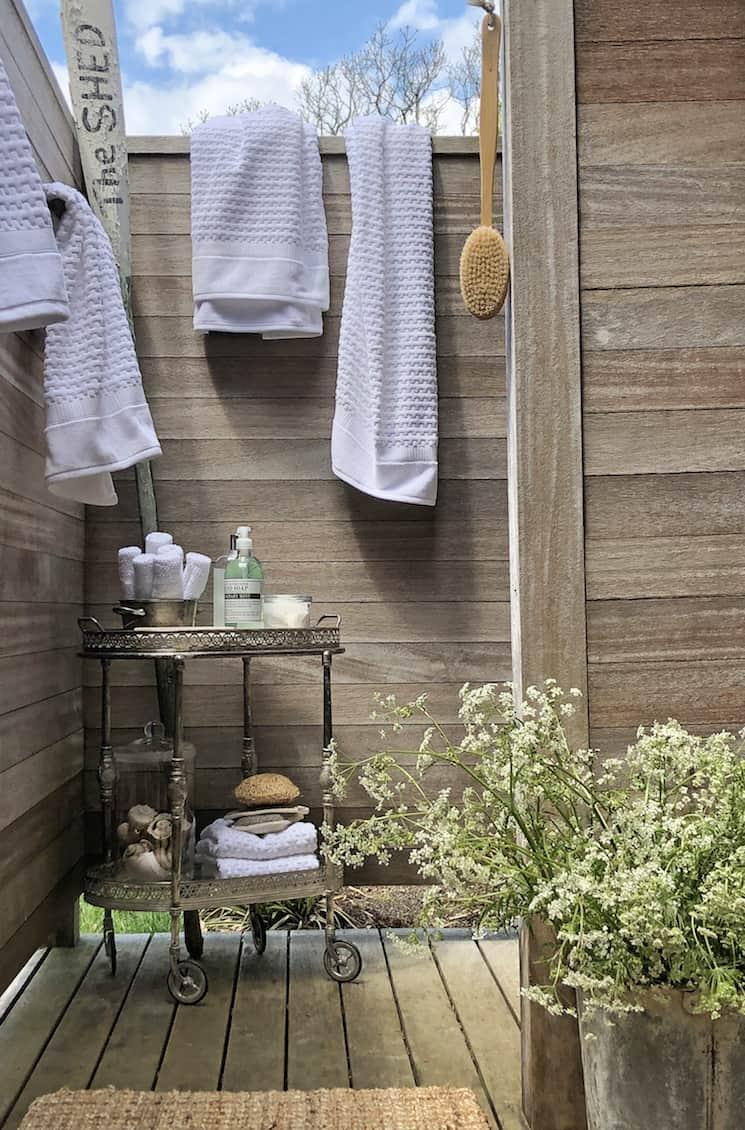 outside shower coastal home decor style