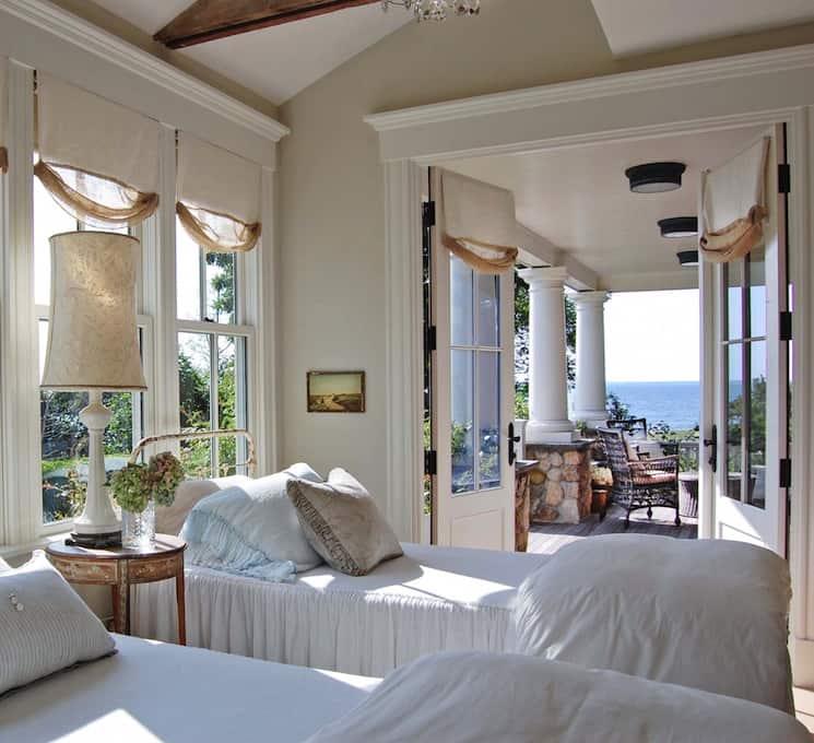 guest room sleeping porch coastal home decor