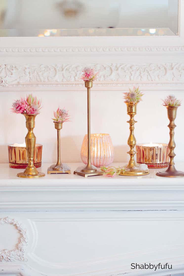 unique ways to display flowers on candleholders