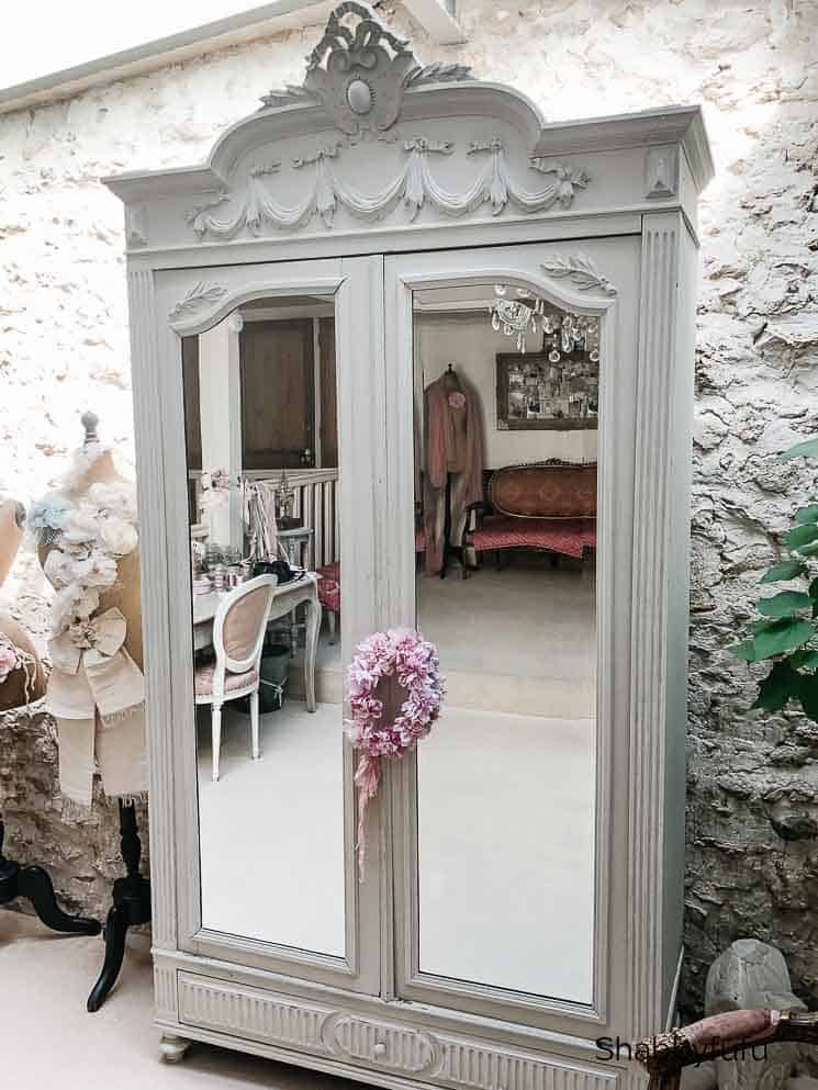 antique french mirrored cabinet furniture