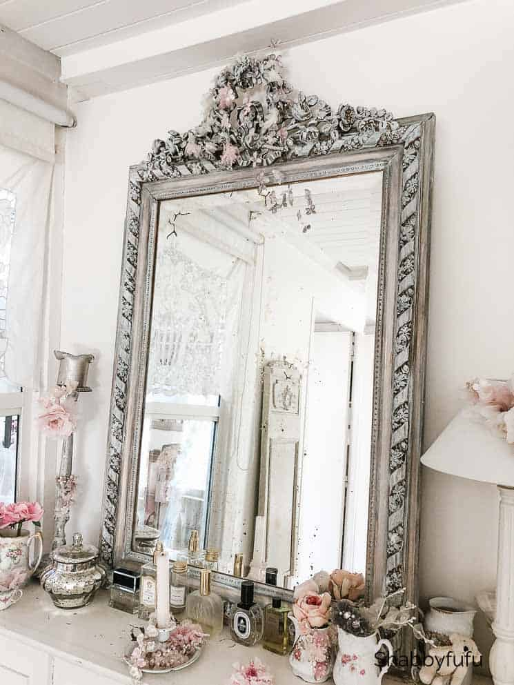 antique french farmhouse mirror