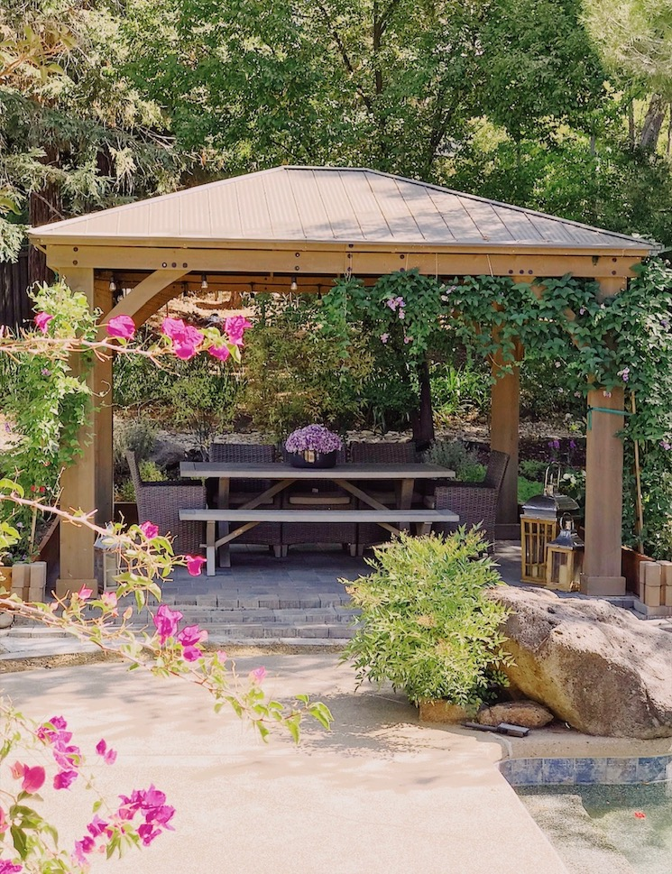 beautiful northern California garden gazebo