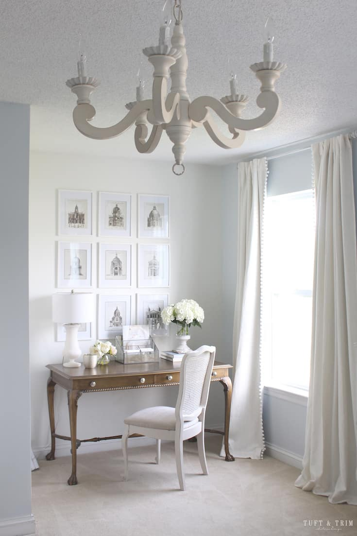 modern french country decor desk area