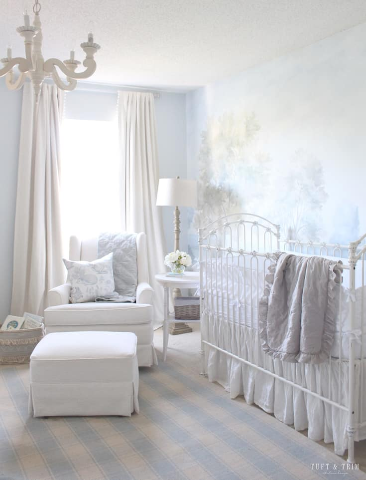modern french country decor nursery