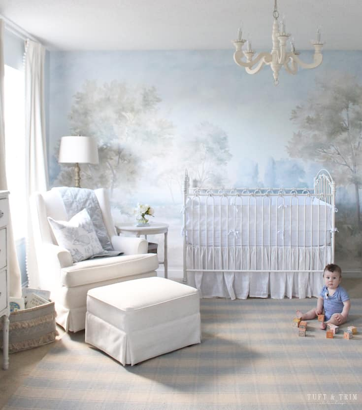 modern french country nursery
