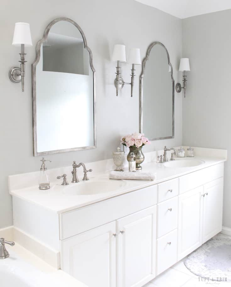 modern french country bathroom