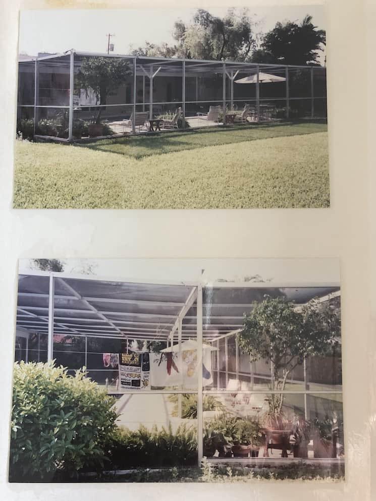 typical mid century modern suburban miami home