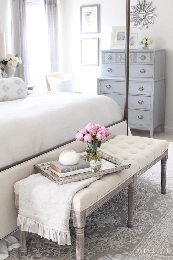 modern french country decor bedroom