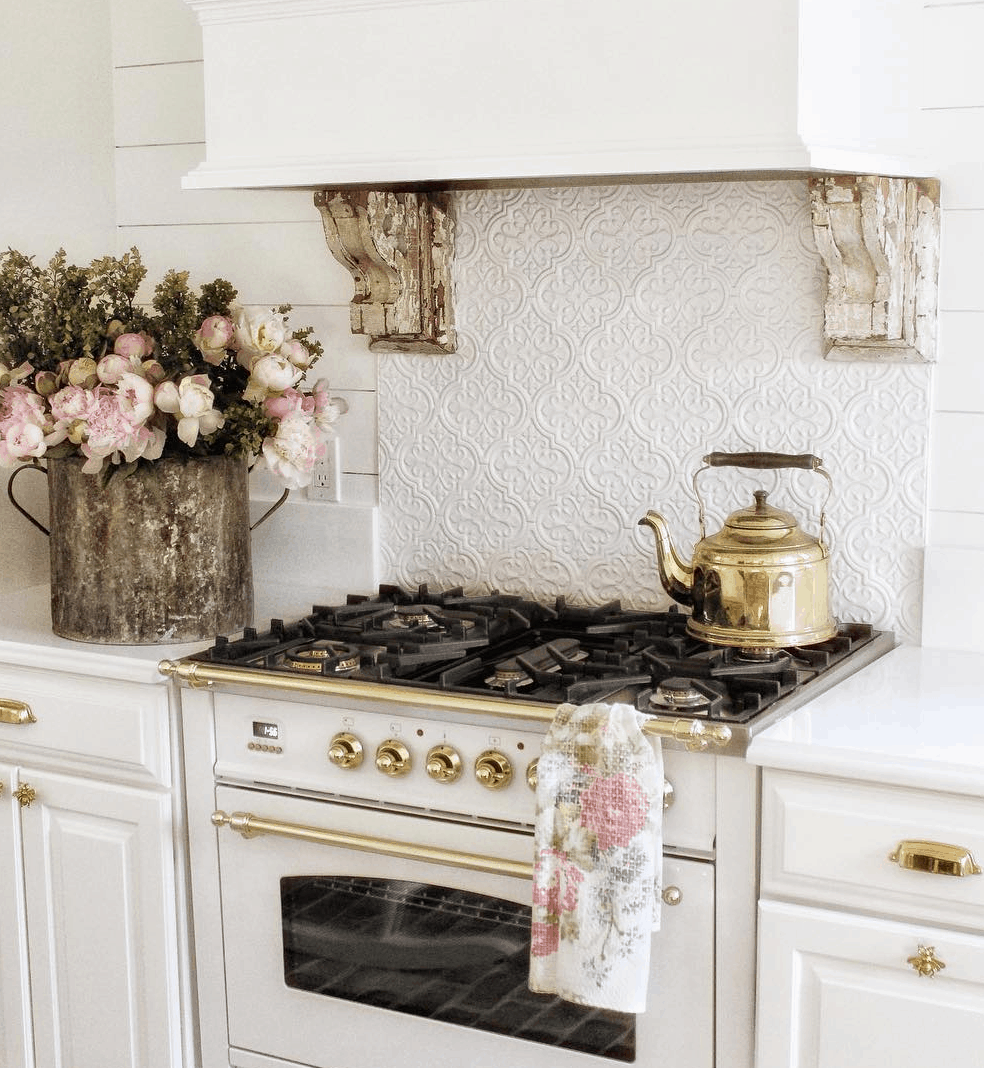 french stove in a vintage home