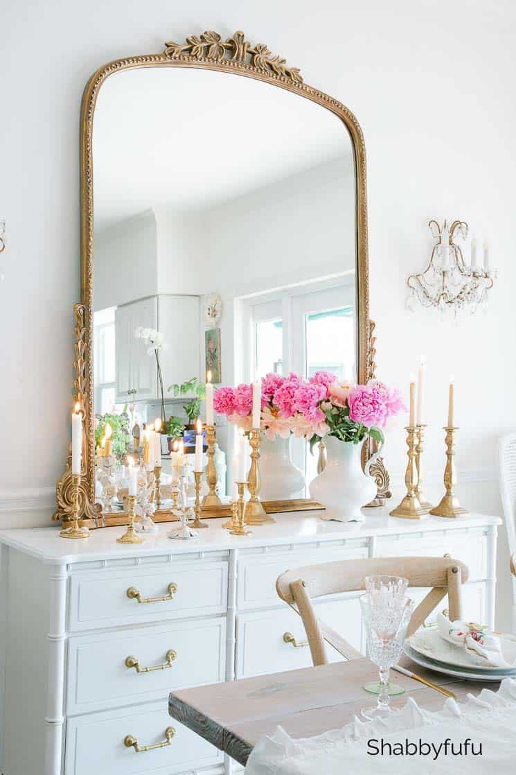 vintage brass candlesticks fall decorating