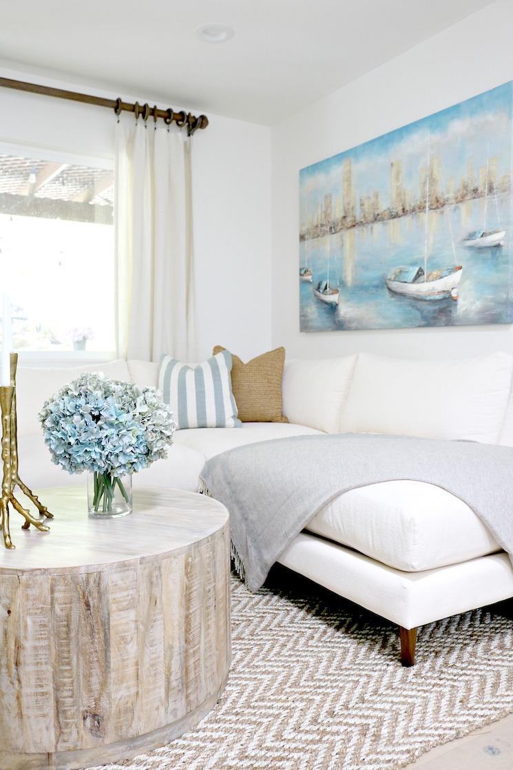 elegant modern coastal family room