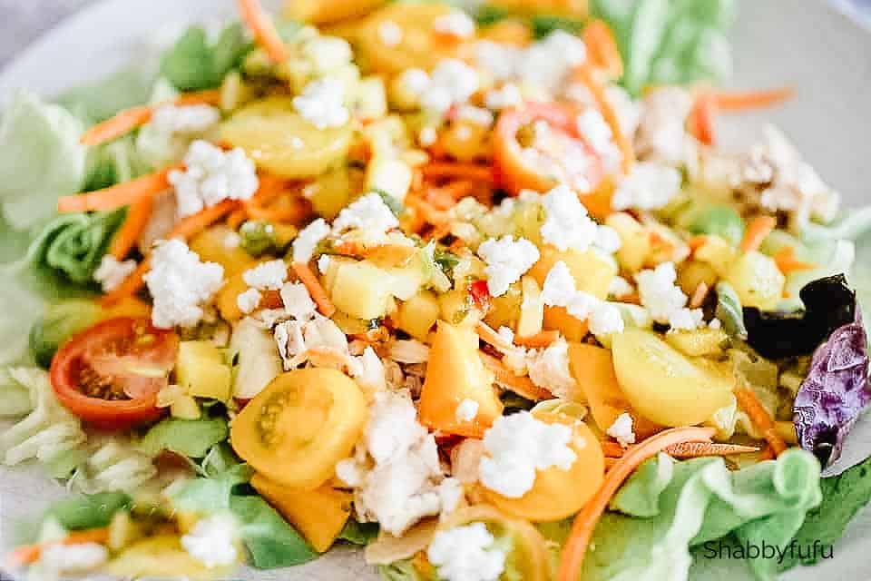 mango season summer salad
