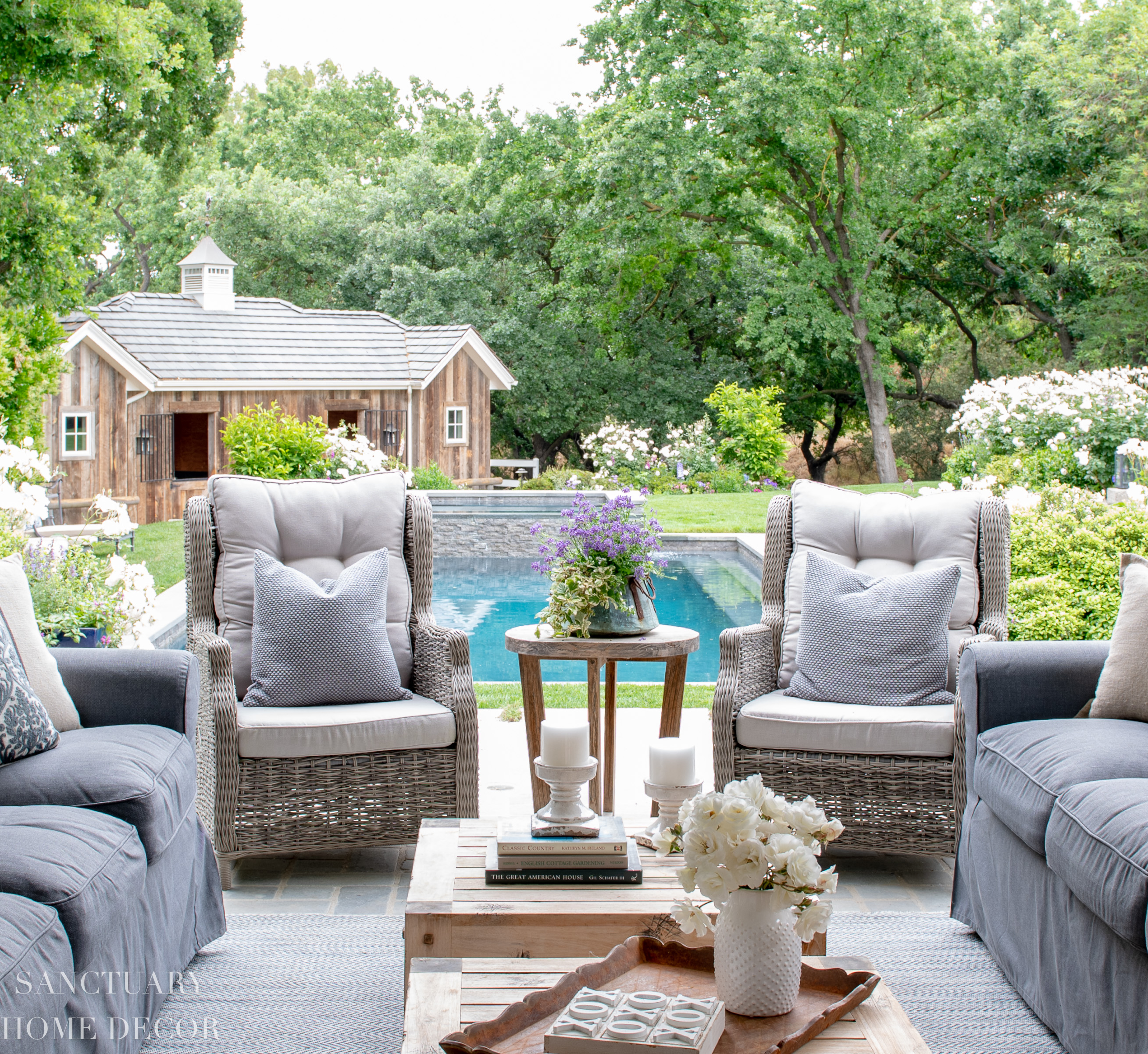 sanctuary home decor patio and pool