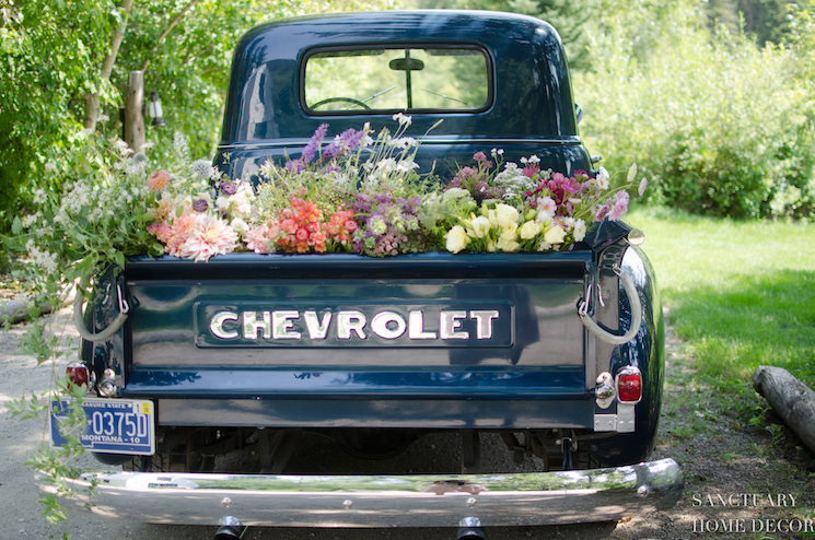 52 chevy with flowers