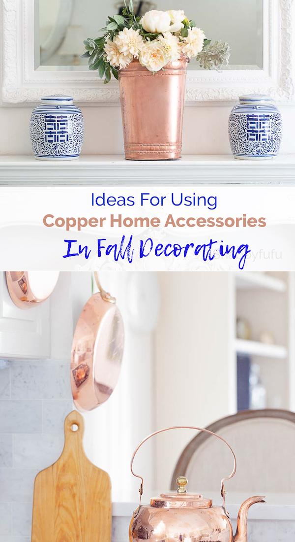 Copper Home Accessories In Fall Decorating Shabbyfufu Com