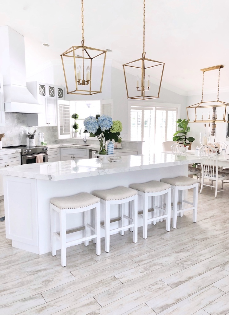 florida coastal home tour white kitchen