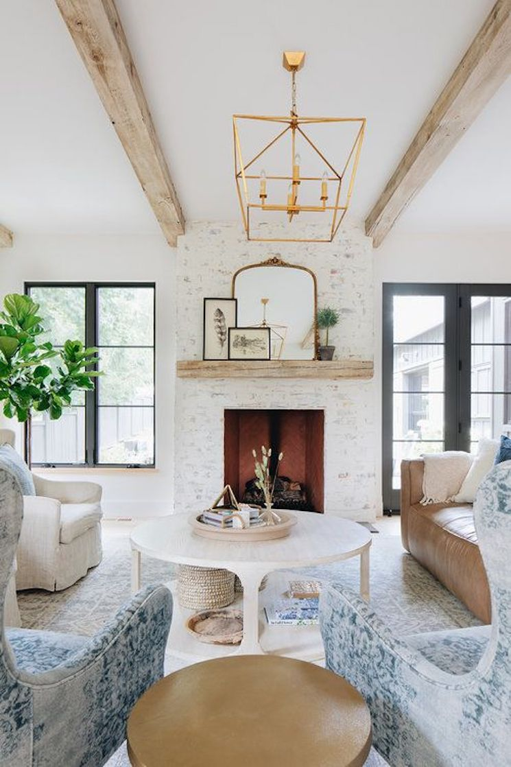 modern farmhouse decor living room