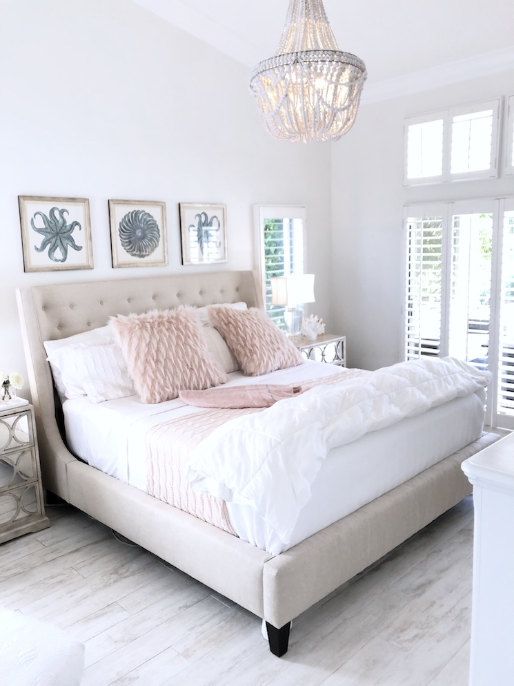 florida coastal home tour master bedroom