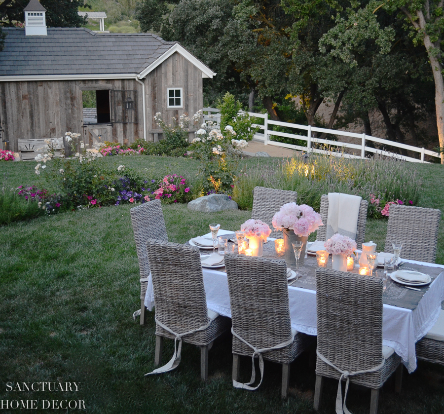 romantic outdoor party