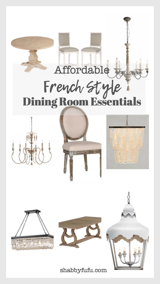 affordable french style dining room essentials