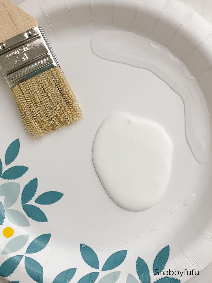 mixing glue