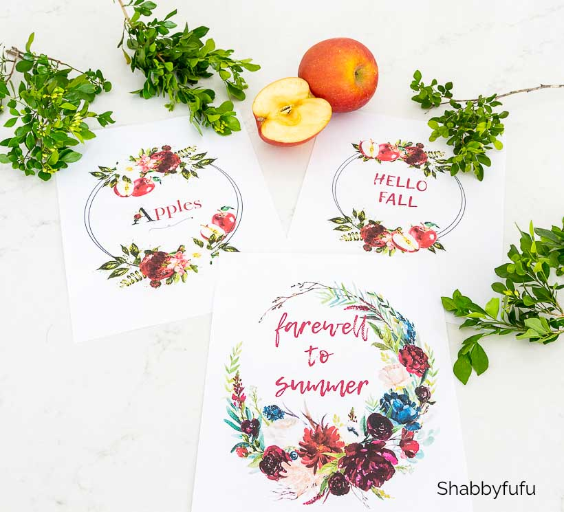 free fall printable wreaths